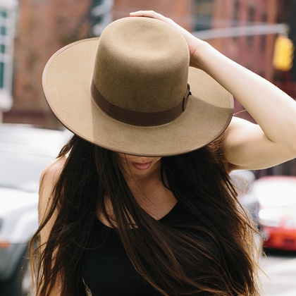 wool felt hats, flat brim